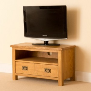Erne lite Oak small TV unit
