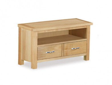 Tuscan Oak small straight TV unit