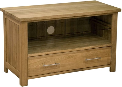 Modern Classic Solid Oak Small TV unit