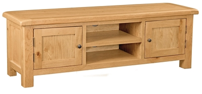 Erne Oak 2 Door Extra Large TV unit