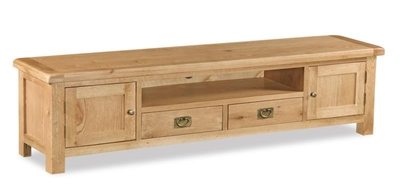 Erne Oak Extra Large Low Line TV unit