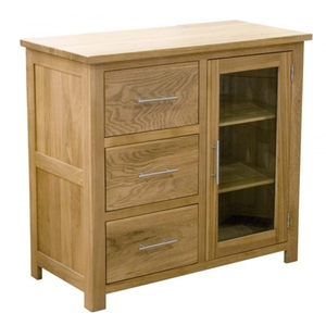 Modern Classic Solid Oak HiFi media unit with drawers