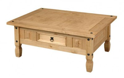 Corona mexican pine coffee table