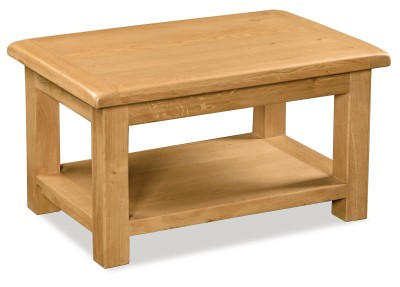 Erne Oak large coffee table with shelf