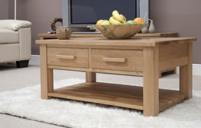 Modern Classic solid oak coffee table