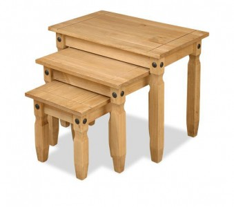 Corona Mexican Pine nest of tables