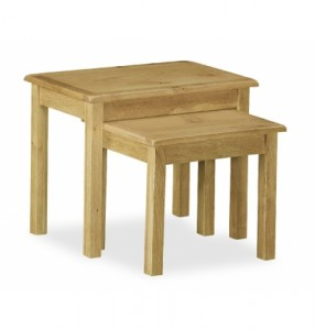 Erne Lite Oak Nest of Tables