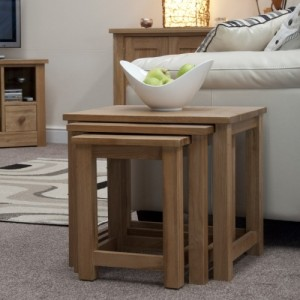 Modern Classic Solid Oak Nest of Tables