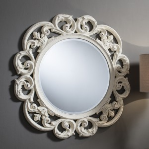Chartwell mirror vintage white 36in SALE £169