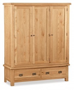 Erne oak triple 3 door wardrobe
