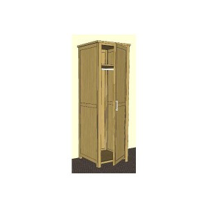 Modern classic Solid Oak single narrow wardrobe