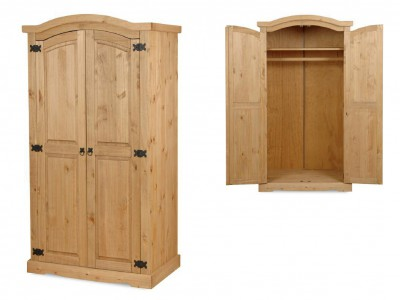 Corona Mexican pine 2 door wardrobe