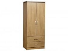 Charles light oak effect 2 door wardrobe