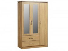 Charles 3 door triple wardrobe