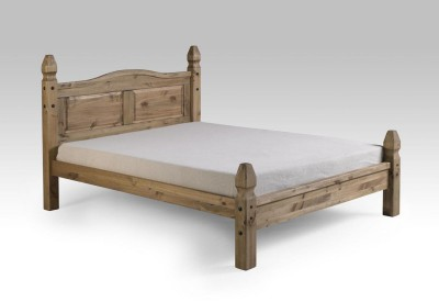 Corona solid mexican pine 4ft6 double low end bed