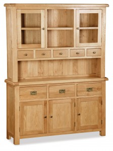 Erne oak buffet hutch large wide dresser