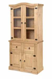 Corona Mexican pine narrow buffet hutch