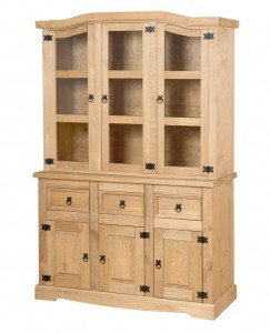 Corona Mexican pine wide buffet hutch