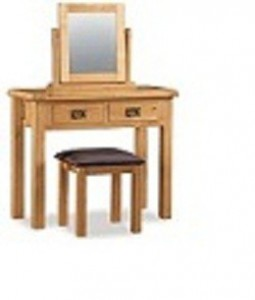 Erne oak dressing table 2 drawer
