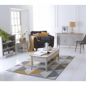 Scandinavian grey and oak