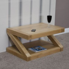 Z Designer Solid Oak Coffee Table