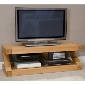 Z Designer Solid Oak Plasma TV unit