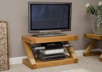 Z Designer Solid Oak TV unit