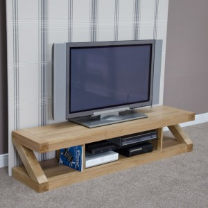 Z Designer Solid Oak Large Plasma TV unit