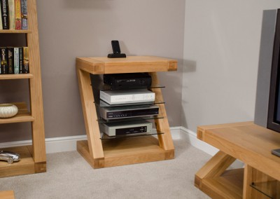 Z Designer Solid Oak HiFi unit