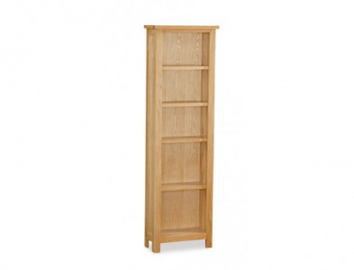 Tuscan oak tall slim bookcase