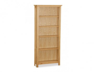 Tuscan oak tall wide bookcase