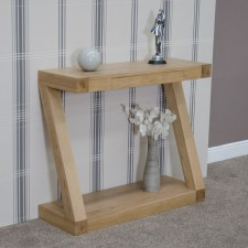Z Designer Solid Oak Hall Table with