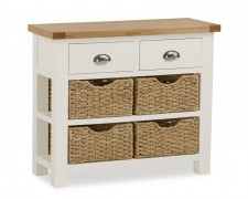 New England Console table with Baskets