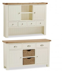 New England cream and oak Large Dresser
