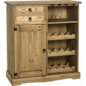 Corona mexican pine Sideboard Wine Rack