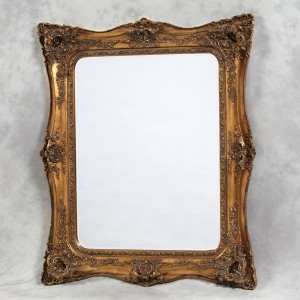 M158 Large gold classic french square mirror 135x164cm SALE £299