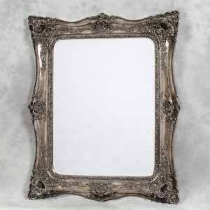 M159 Large silver classic french square mirror 135x164cm SALE £299