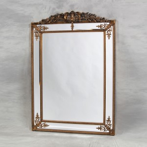 M24 Large gold french crested mirror 192x134cm SALE £399