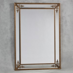 M24W Large gold wooden french mirror 192x134cm SALE £399