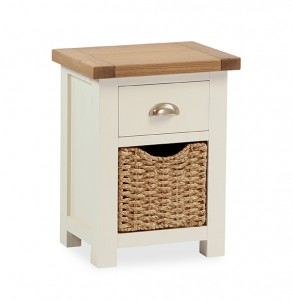 New England side table with basket