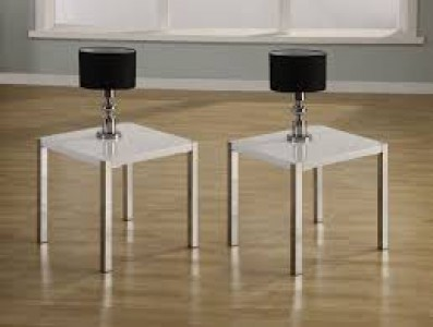 Charisma lamp table WHITE GLOSS