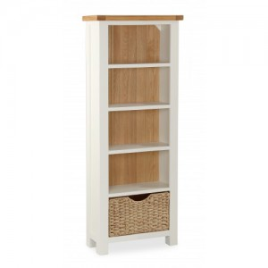 New England tall slim bookcase