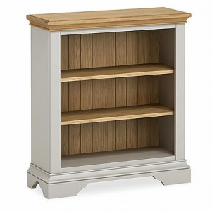 Chester grey & oak low bookcase