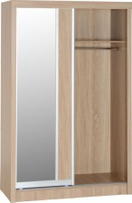 Sonoma light oak effect sliding door wardrobe