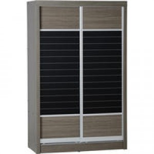 Sonoma grey dark oak effect sliding door wardrobe