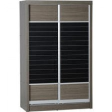 Sonoma dark oak effect sliding door wardrobe