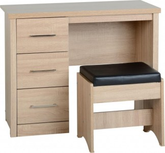 Sonoma light oak effect dressing table & stool