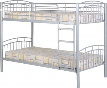 Metal Bunk bed in silver or black
