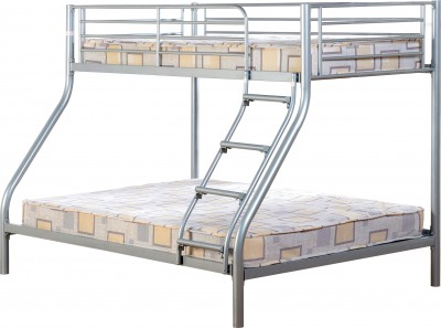 Triple Silver or black Metal Bunk bed