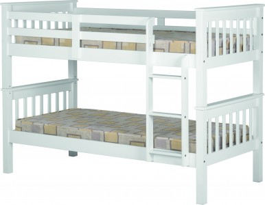 Neptune white 3ft bunk bed
